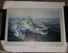 TASK FORCE  ROBERT TAYLOR PRINT  SIGNED BY SANDY WOODWARD LTD EDITION VERY RARE